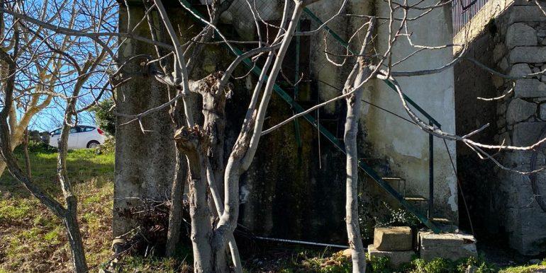 scala che collega il terrazzo al giardino